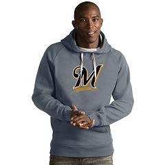 Men's Antigua Milwaukee Brewers Victory Logo Hoodie