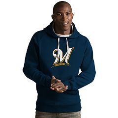 Men's Antigua Milwaukee Brewers Victory Logo Hoodie