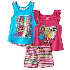 Girls 4-6x Barbie 'Fab Friends' Tank Top, Top & Shorts Set