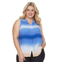 Plus Size Apt. 9® Pleated Crepe Tank