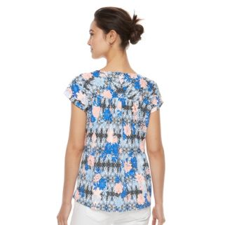 Petite Kate and Sam Floral Embroidered Tee