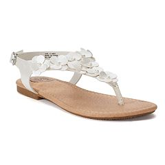 SO® Girls' Ankle Strap Flower Sandals