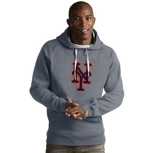 Men's Antigua New York Mets Victory Logo Hoodie