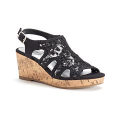 SO® Grove Girls' Wedge Sandals