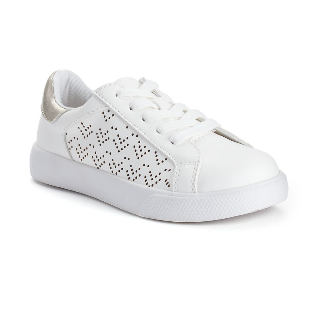 SO® Girls' Perforated Casual Sneakers