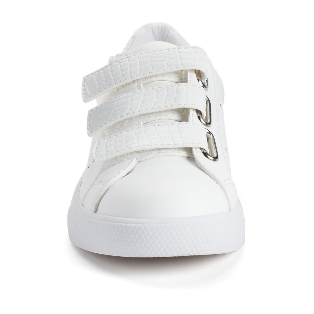 SO® Girls' Triple-Strap Casual Sneakers