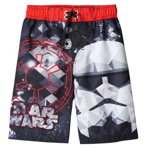 Boys 4-7 Star Wars Storm Trooper Swim Trunks