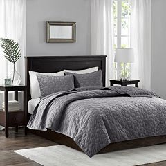 Madison Park 3 pc Velvet Emery Coverlet Set