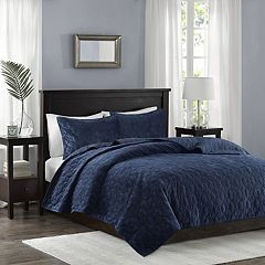 Madison Park 3-piece Velvet Emery Coverlet Set