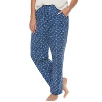 Plus Size SONOMA Goods for Life™ Mix & Match Pajamas: Open Hem Lounge Pants