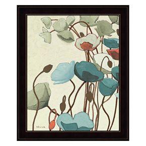 Blue Pavots Ondule I Framed Wall Art