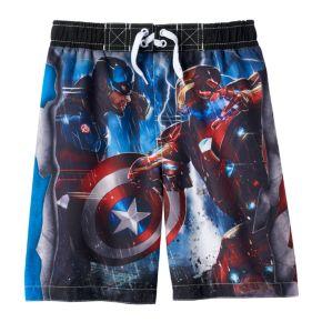 Boys 4-7 Marvel Captain America: Civil War Swim Trunks