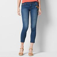 Women's SONOMA Goods for Life™ Embroidered Skinny Ankle Jeans