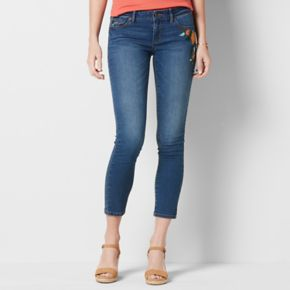 Women's SONOMA Goods for Life? Embroidered Skinny Ankle Jeans