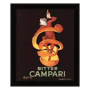 """Bitter Campari"" Framed Wall Art"