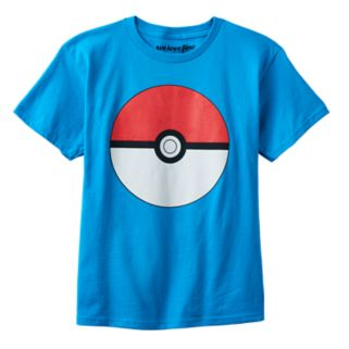Boys 8-20 Pokemon Ball Tee