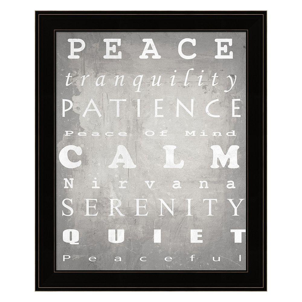 """Peace"" Framed Wall Art"