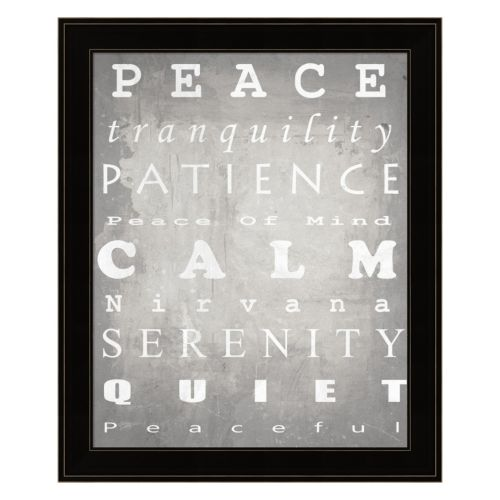 """Peace"" Framed Wall Art"