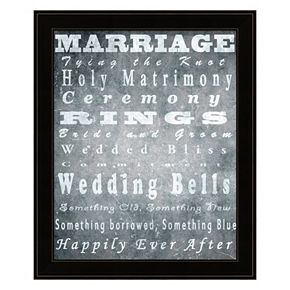 """Marriage"" Framed Wall Art"