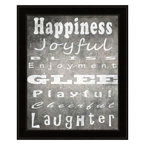 """Happiness"" Framed Wall Art"