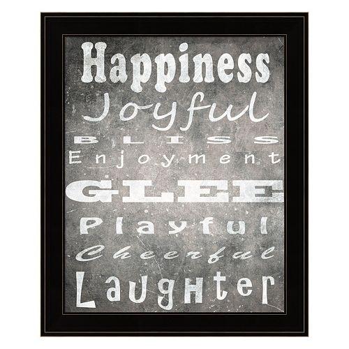 """Happiness"" Framed Wall Art"