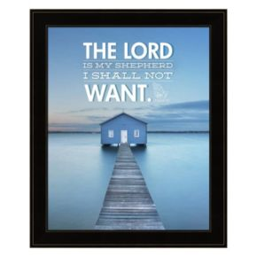 """The Lord Is My Shepherd"" Framed Wall Art"