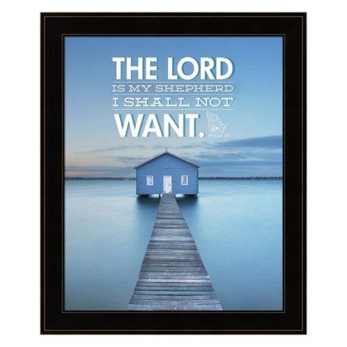 The Lord Is My Shepherd Framed Wall Art