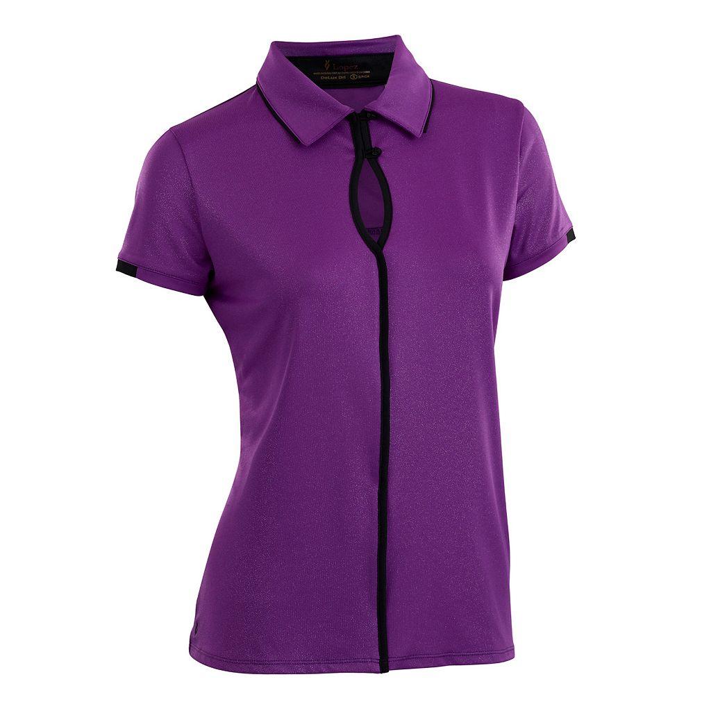 Women's Nancy Lopez Easy Short Sleeve Golf Polo