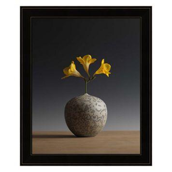 Three Freesia Blossoms Framed Wall Art