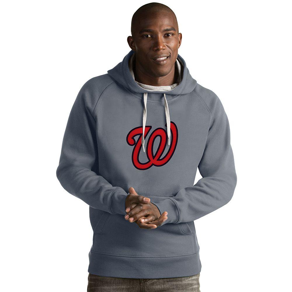Men's Antigua Washington Nationals Victory Logo Hoodie