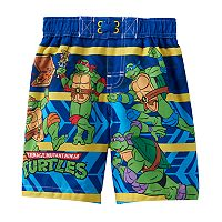 Toddler Boy Teenage Mutant Ninja Turtles Striped Swim Trunks