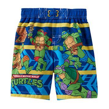 Toddler Boy Teenage Mutant Ninja Turtles Striped Swim Trunks