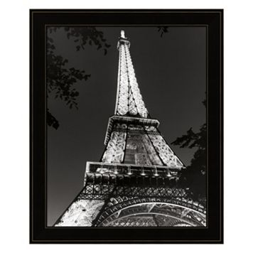 Eiffel Tower At Night Framed Wall Art