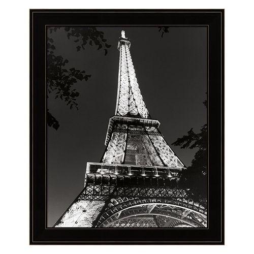 Eiffel Tower At Night Framed Wall Art