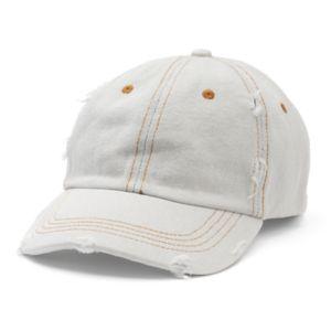 Women's Mudd® Distressed Denim Baseball Hat