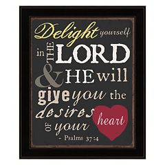'Delight Yourself In The Lord' Framed Wall Art