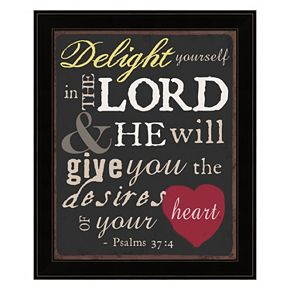 """Delight Yourself In The Lord"" Framed Wall Art"