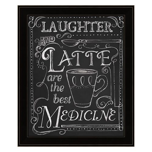 """Laughter And Latte"" Framed Wall Art"