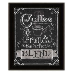 """Coffee & Friends"" Framed Wall Art"
