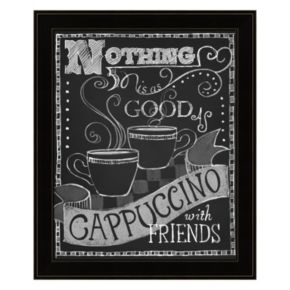 """Cappuccino"" Framed Wall Art"