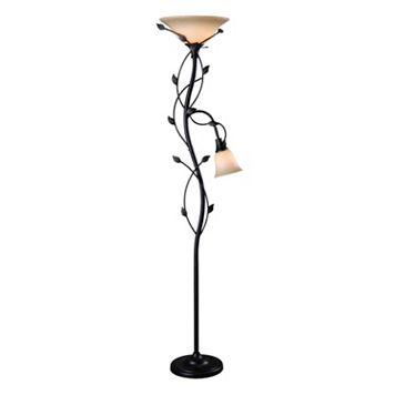 Kenroy Home Ashlen 2-Light Torchiere Floor Lamp