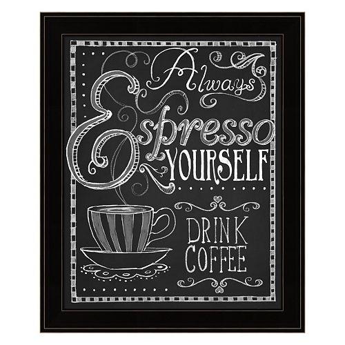 """""""Espresso Yourself"""" Framed Wall Art"""
