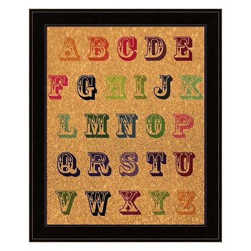 """ABC"" Vintage Framed Wall Art"