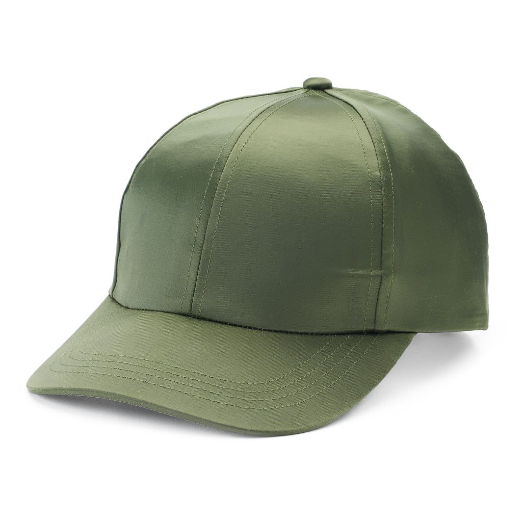 Women's Mudd® Shiny Satin Baseball Hat
