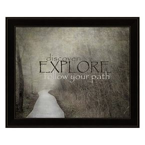 """Discover, Explore, Follow Your Path"" Framed Wall Art"