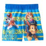 Baby Boy Paw Patrol Marshall, Skye & Chase Swim Shorts