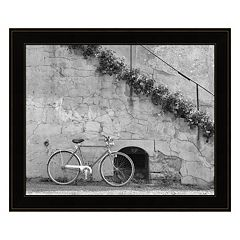 Bicycle & Cracked Wall, Einsiedeln, Switzerland 04 Framed Wall Art