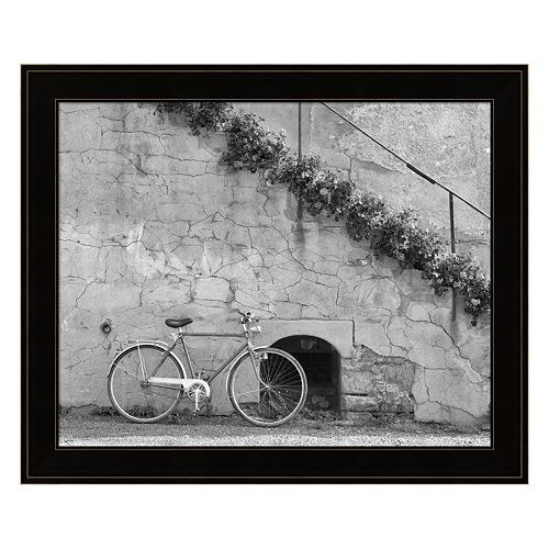 Bicycle & Cracked Wall, Einsiedeln, Switzerland 04 Framed Wall Art