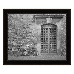 Bicycle & Door, Yverdon, Switzerland 04 Framed Wall Art