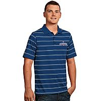 Men's Antigua Chicago Cubs 2016 World Series Champions Deluxe Striped Polo